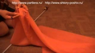 Шторы и ламбрекены - Правильная утюжка и драпировка (сборка) шторной лентой.