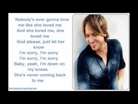 Keith Urban- Stupid Boy (Lyrics)