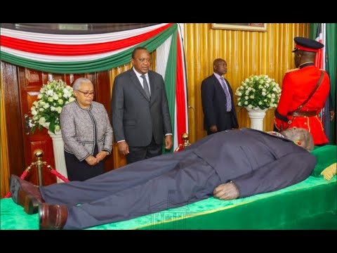 President Uhuru, DP Ruto Arrive To View Moi's Body At Parliament Buildings