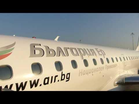 ᴴᴰ✈Bulgaria Air Full Flight✈Sofia-Vrazhdebna to Burgas Sarafovo✈Embraer 190
