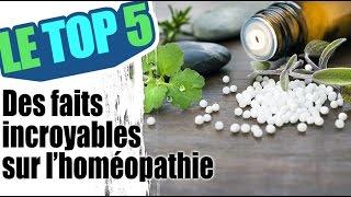 Le top 5 des faits incroyables sur l'homéopathie