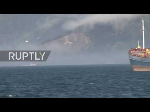 Turkey: Coastguard boats return to shore after Russian Navy ship rescue mission