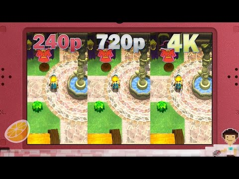 The Legend of Zelda: Triforce Heroes 240p VS 720p VS 4K (Citra)