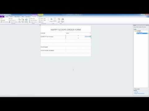 InfoPath 2010 Lesson 1 - Creating A Basic Form