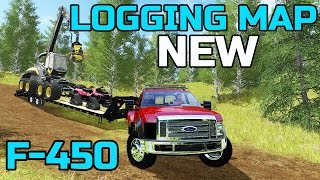 FARMING SIMULATOR 2017 | SMOKE VALLEY LOGGING MAP | F-450 HAULING EQUIPMENT