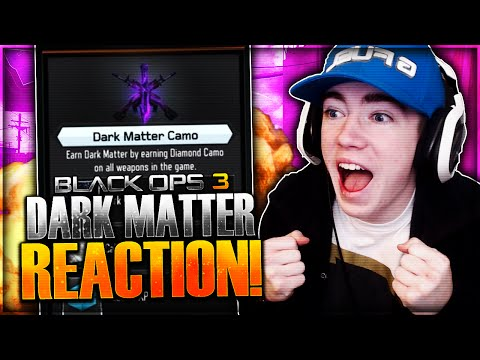 "UNLOCKING DARK MATTER REACTION! Hilarious ""DARK MATTER"" Camo Reaction (Black Ops 3 Dark Matter)"