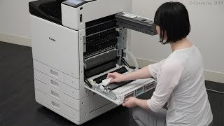Cleaning the paper transport unit (WG7000 Series)