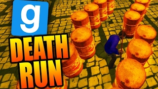 AVOID THE BARRELS! - GMOD DEATH RUN