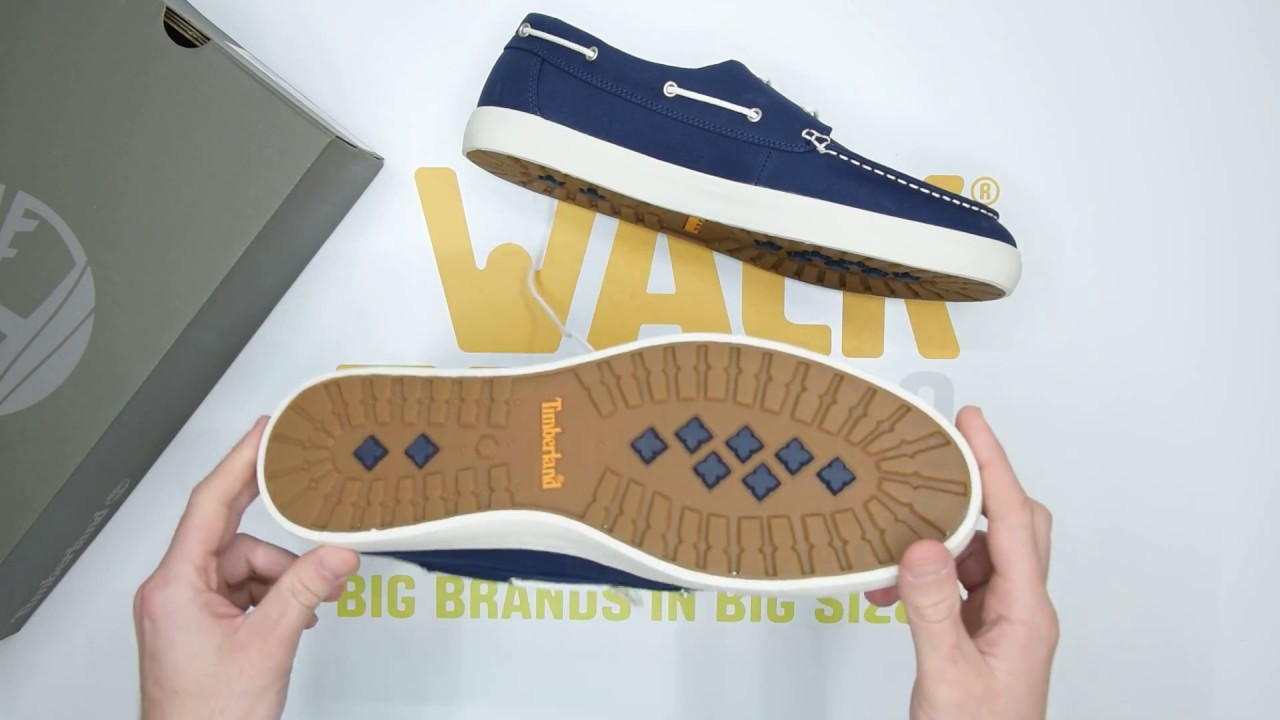 márketing Productos lácteos Ceder el paso  Timberland Union Wharf 2 Eye Boat - Navy - Unboxing | Walktall - YouTube