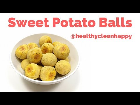 Recipe: How to Make Baked Sweet Potato Balls (Brazilian Vegan Pão de Queijo)