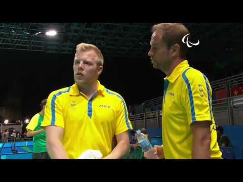 Table Tennis | SWE v BRA | Men's Singles - Qualification Class 8 Group F | Rio 2016 Paralympic Games