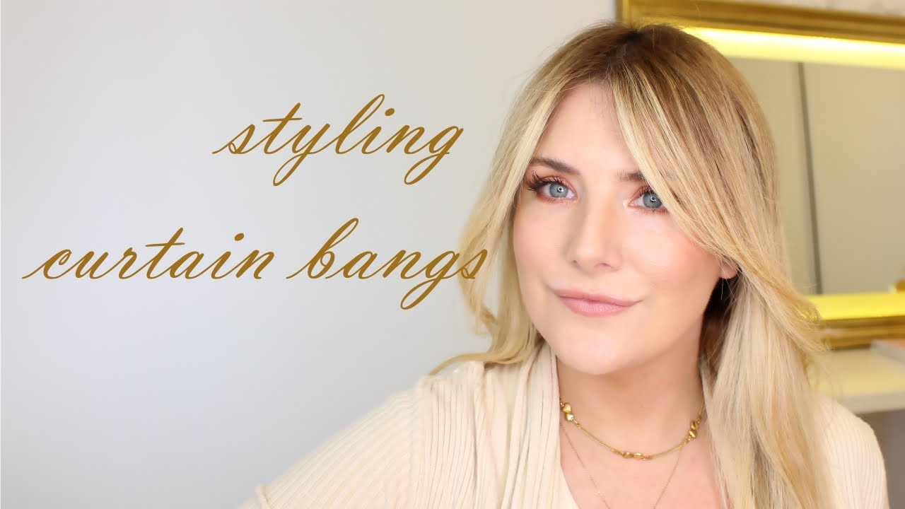How To Style Long Curtain Bangs In 2020 Pro Secrets Revealed Stylesaturdays Youtube