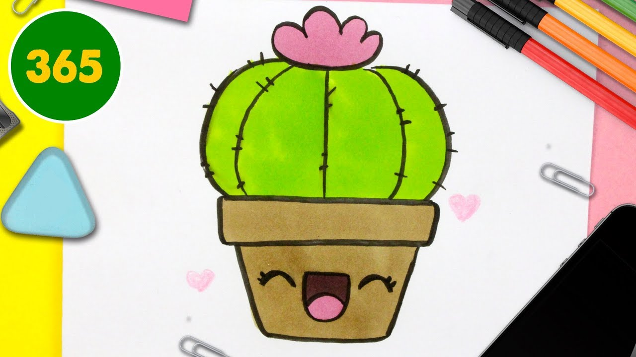 Comment Dessiner Cactus Kawaii étape Par étape Dessins Kawaii Facile