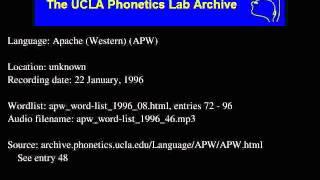 Western Apache audio: apw_word-list_1996_46
