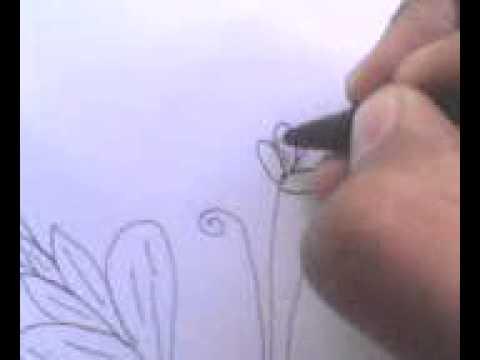 Cara menggambar sketsa bunga tanpa warna by yandi musthofa ...