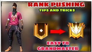 FREE FIRE BEST TIPS & TRICKS RANK PUSHING// EASY TO GRANDMASTER // GARENA FREE FIRE
