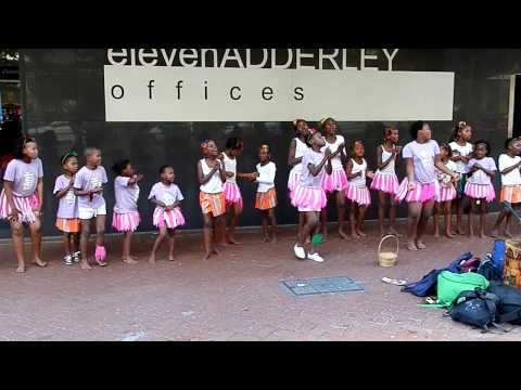 African girls dancing on streets of Cape Town thumbnail