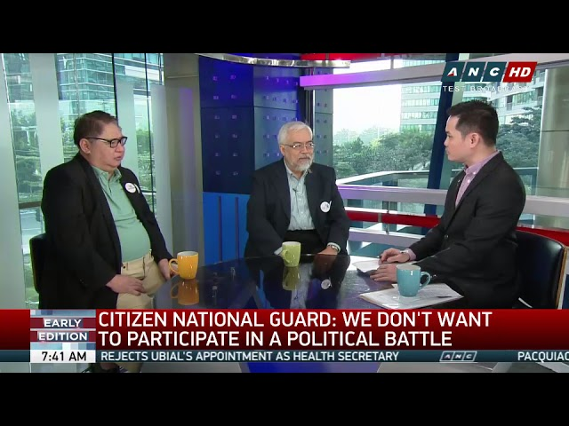 'Let Duterte do his job,' Citizen National Guard tells admin critics (part 1)