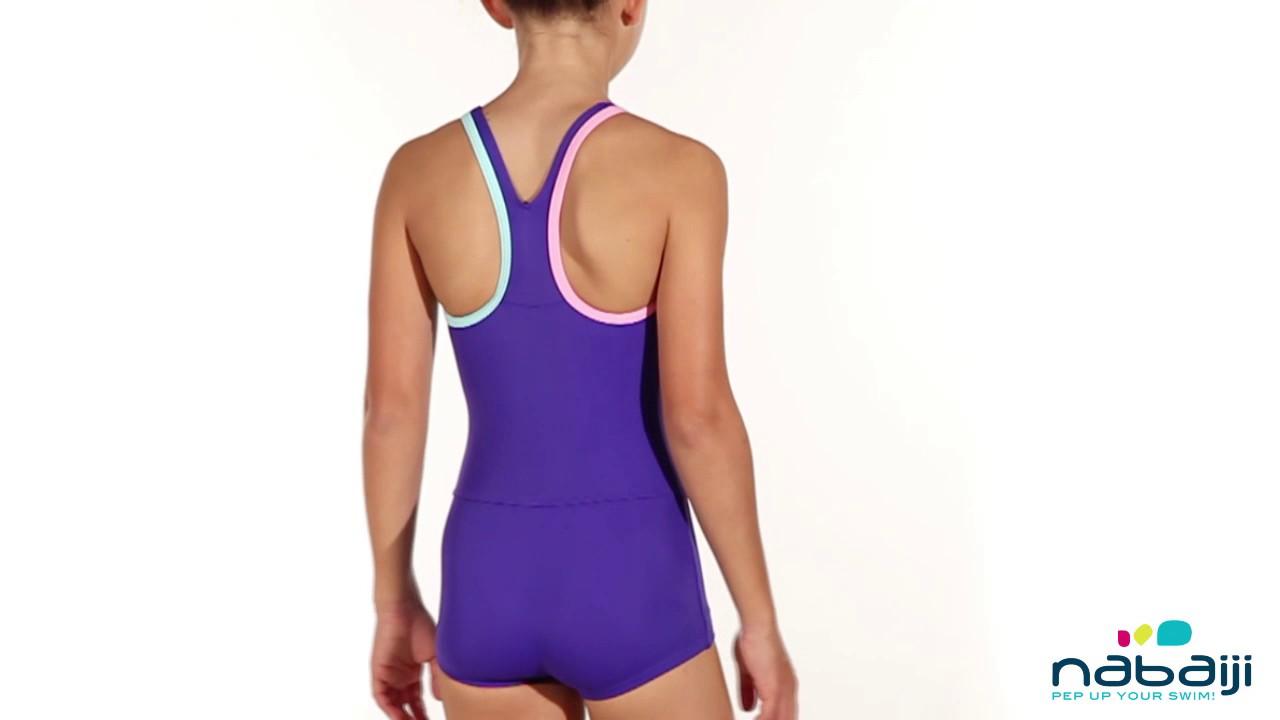 023448de1 Maiô shorty Leony de natação Infantil - Exclusividade Decathlon ...