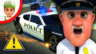 Handy Andy is superhero, he helps  the Police in his own town - Full episodes for kids