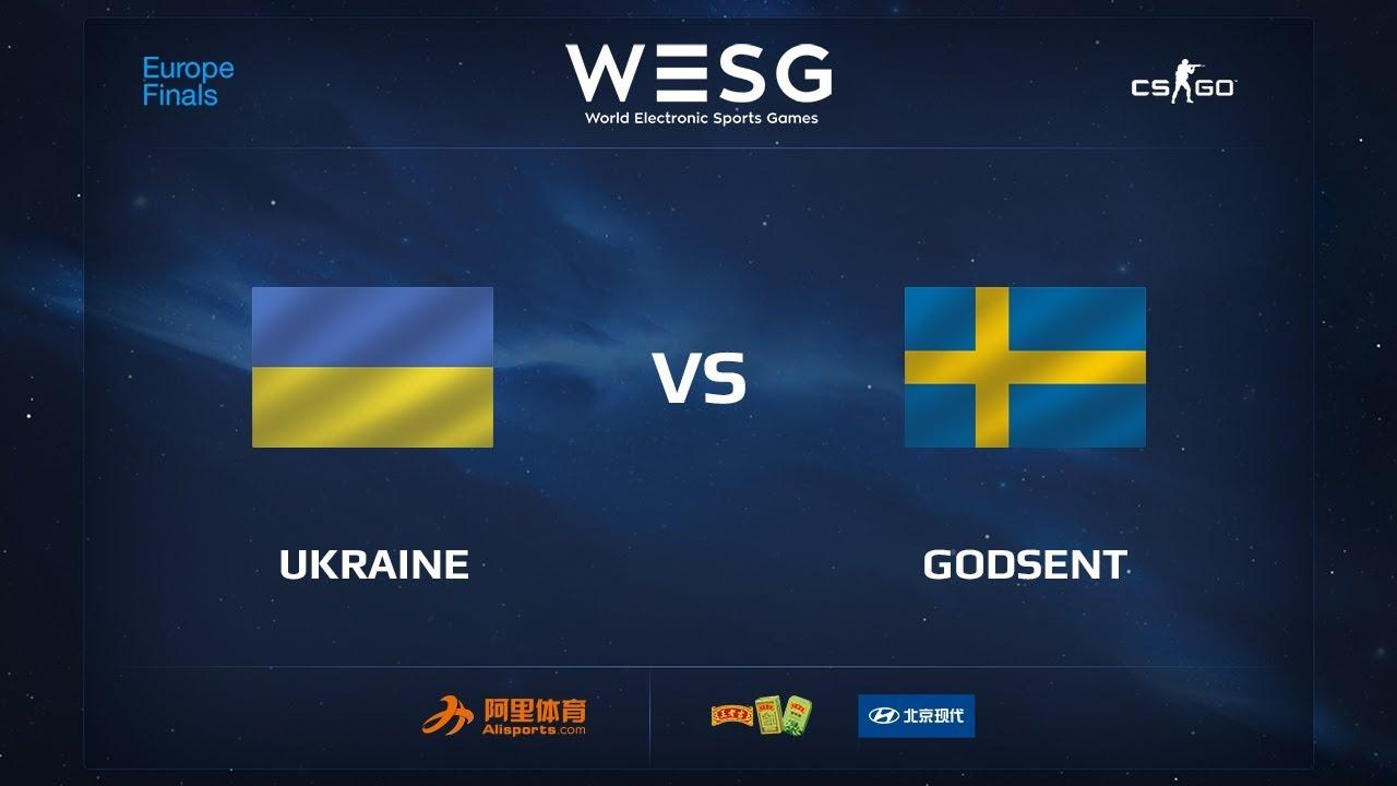 Ukraine vs GODSENT, map 2 overpass, Final, WESG 2017 CS:GO European Qualifier Finals