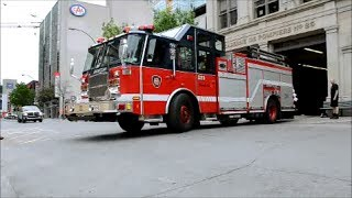 MONTREAL E-ONE FIRE TRUCK 225 RESPONDING FROM STATION 25