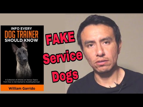 Your Service Dog May be a FAKE. Dog Training