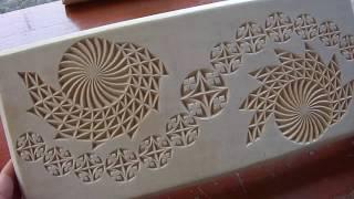 Геометрическая резьба по дереву. Урок 35 часть 4 (geometric wood carving)