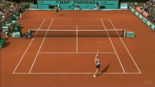 Top Spin 3 Xbox 360 Gameplay - Clay Court