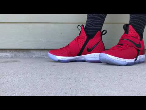 Lebron 14 Varsity Red Detailed Look And On Foot Lebron 14 Red