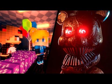 АНИМАТРОНИКИ И ДЕНЬ РОЖДЕНИЯ #12 - ПЯТЬ НОЧЕЙ С ФРЕДДИ В МАЙНКРАФТ! КАК СДЕЛАТЬ ПОРТАЛ В МИР ФНАФ! - Видео из Майнкрафт (Minecraft)