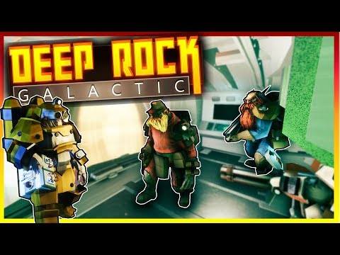 MINING FOR GOLD! CAVE MINING AN ALIEN PLANET! - Deep Rock Galactic Multiplayer Gameplay