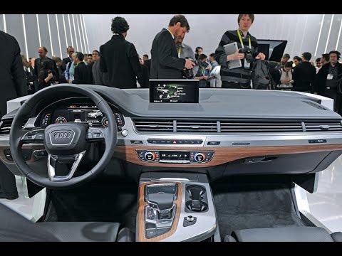 Audi Q7 Interieur (2015) - Innenraum auf der CES vorgestellt - YouTube