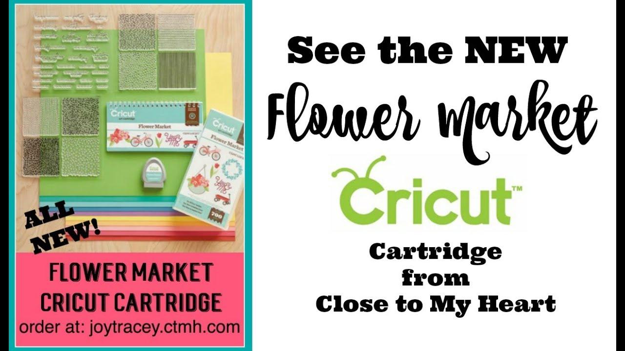 NEW Flower Market Cricut Cartridge Close to My Heart