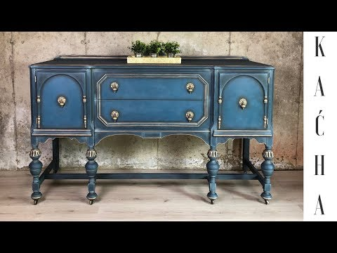 Blue Buffet Makeover with Chalk Paint