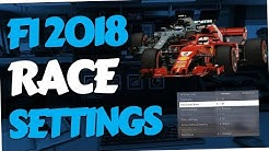 F1 2018 - How to change Race settings (Difficulty, Distance, Assists, Weather etc.)