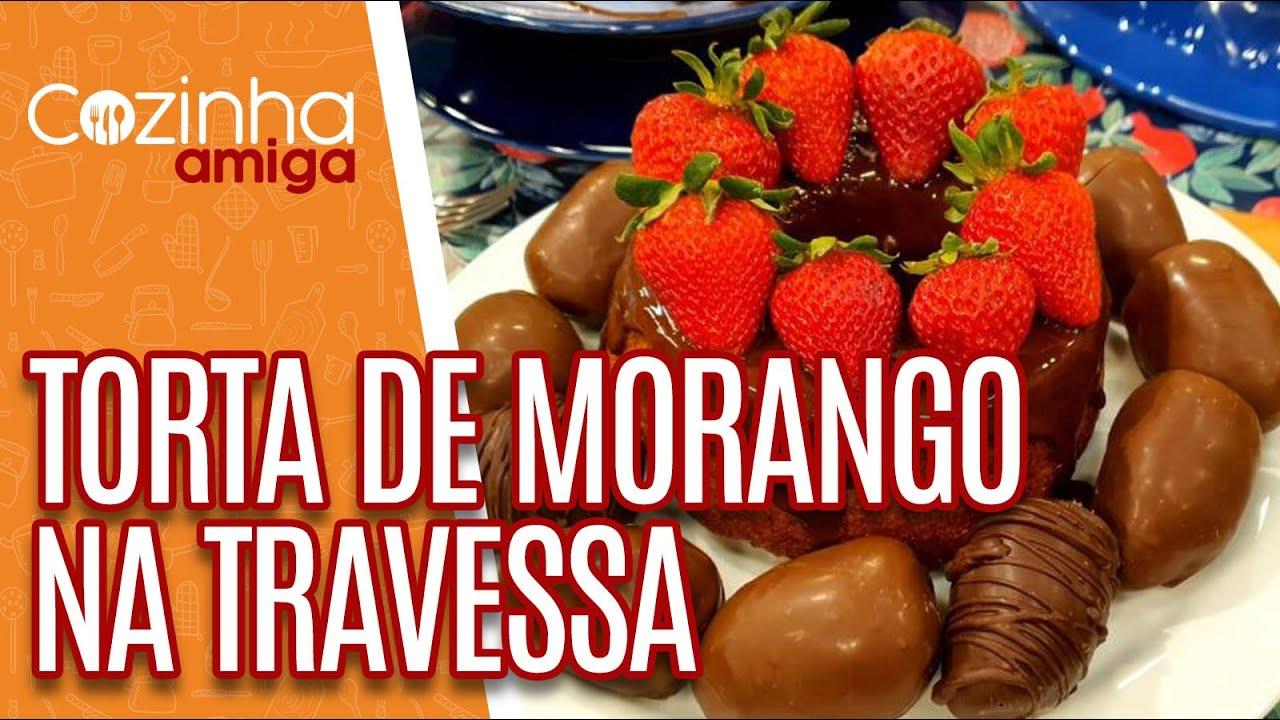 Torta de Morango na Travessa - Alê Peruzzo | Cozinha Amiga (17/09/20)