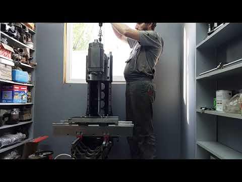 DIY cnc milling machine z axis test.