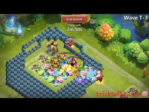 Castle Clash - HBM T Using P2P Heroes
