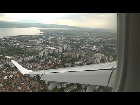 Very short final to Varna AIrport by Bulgaria Air EMB-190