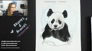 Drawing a Panda Illustration