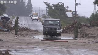 台風19号1週間 被災地に強い雨 復旧作業阻む