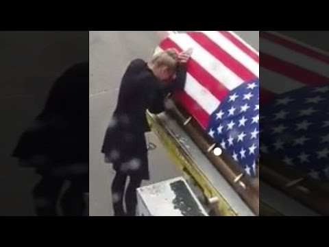 Thumbnail: Wife Of Soldier Kisses His Flag-Draped Coffin: 'It Was Heartbreaking'