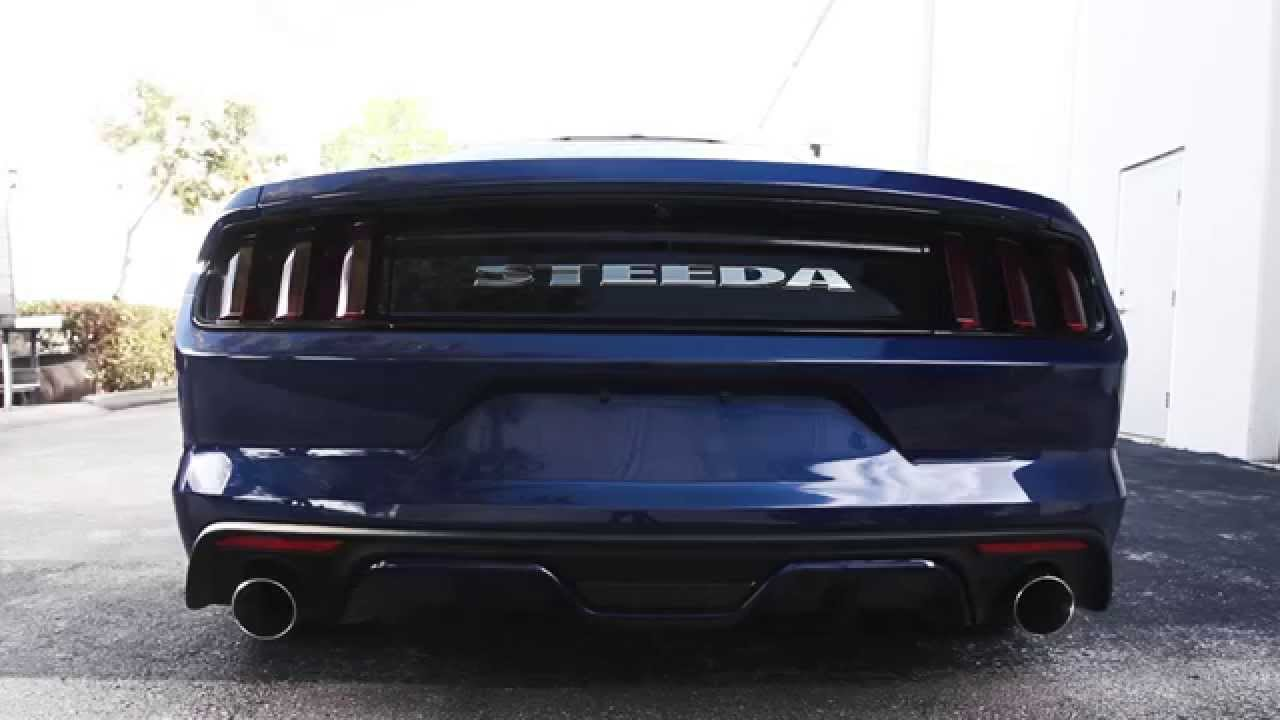 steeda axle back exhaust system mustang 15 17 gt