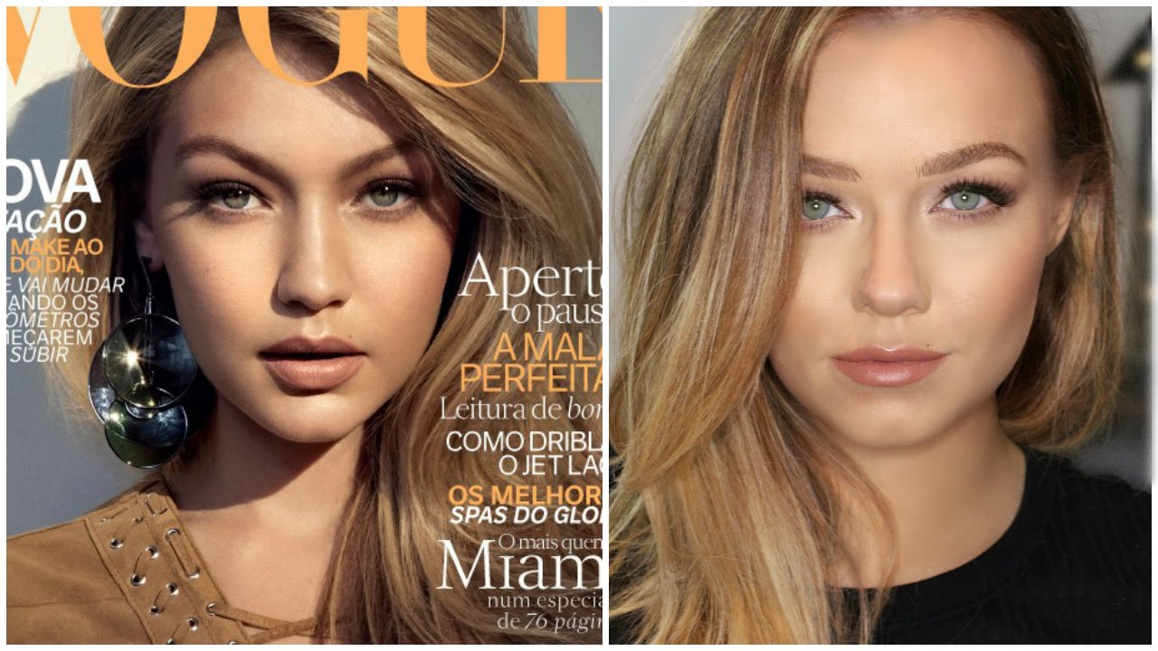 gigi hadid inspired makeup tutorial maybelline nudes palette
