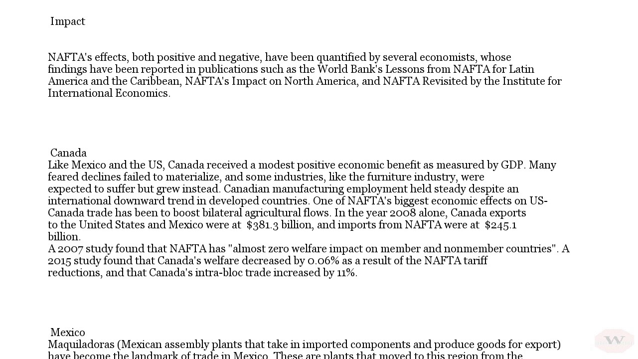 North American Free Trade Agreement Overview Youtube