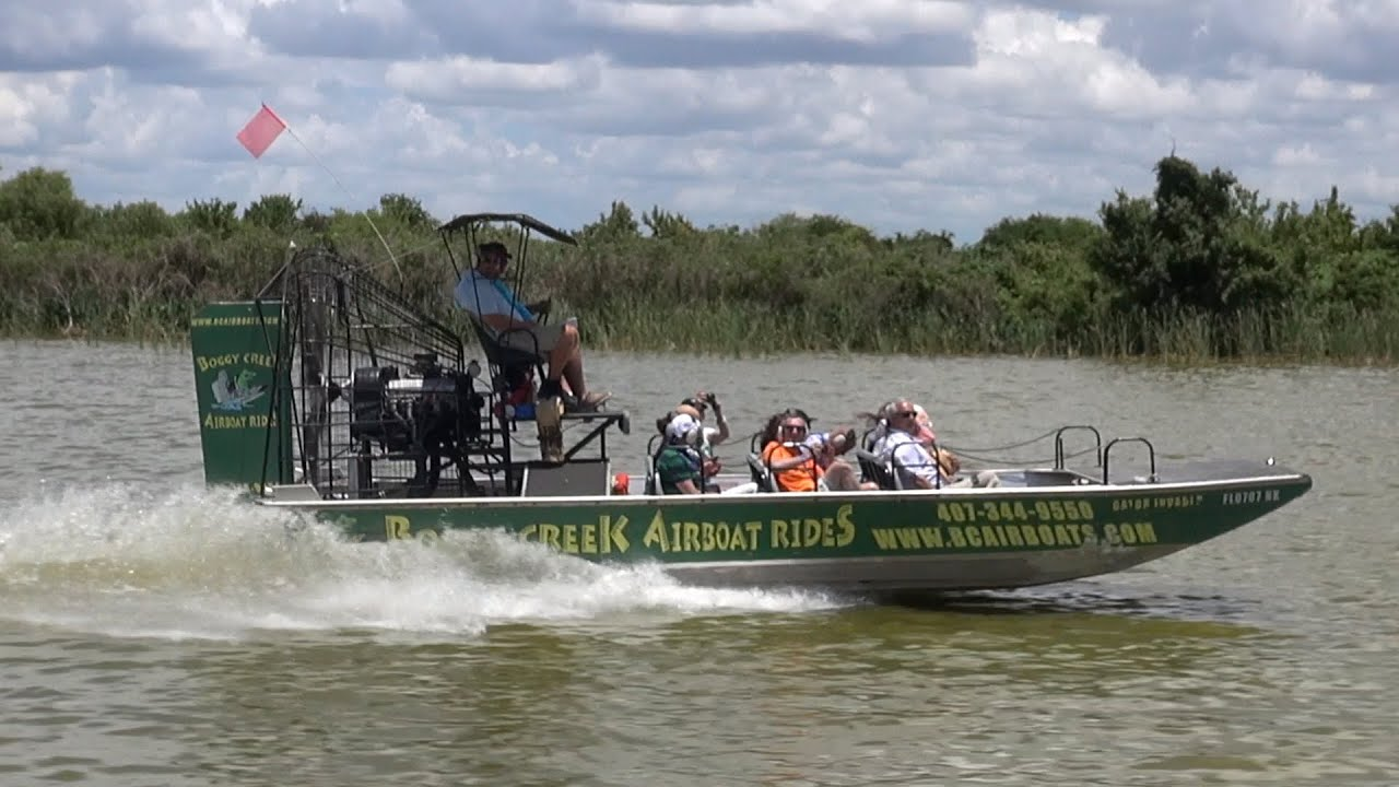 Boggy Creek Airboat Pov Ride Experience On Lake Apopka In Central Florida About 30 Min From Disney