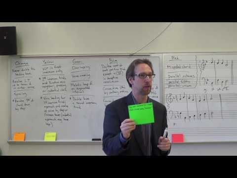 Dr. B Music Theory Lesson 16 (Part Writing Checklist & Triads in First Inversion)