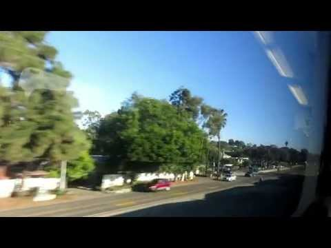 Coaster train ride from Oceanside to San Diego, California, USA
