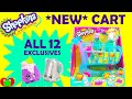 NEW Shopkins Season 3 Shopping Cart with 12 Exclusive Shopkins